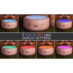 Spa hinchable con luces LED Bestway Paris Lay-Z-Spa
