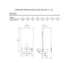 Calentador gas IONO SELECT 11 ID